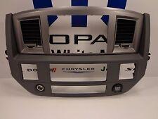 06-10 Dodge Ram New GPS Nav Navigation Radio Bezel Slate Gray Carbon Fiber Mopar