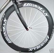 Ironman Finisher Triathlon 404 Wheel sticker decal w/separate decal&your name
