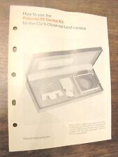 Manuale How to use POLAROID 2X DENTAL KIT CU-5 Polaroid