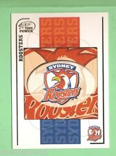 2005  POWER   SYDNEY  ROOSTERS  RUGBY LEAGUE EMBLEM  & PLAYER LIST CARD