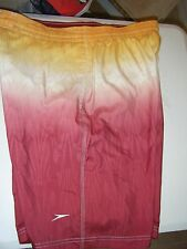 MENS SPEEDO 2 SIDE POCKETS YELLOW WHITE BURGUNDY WORN ONCE