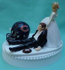 Wedding Cake Topper Chicago Bears Football Sports Theme Humorous Fun Bride Groom