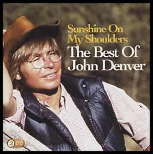 JOHN DENVER (2 CD) BEST OF : SUNSHINE ON MY SHOULDERS ~ 70's GREATEST HITS *NEW*