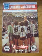 13/05/1980 England v Argentina [At Wembley] (Creased). No obvious faults, unless