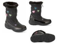 Totes GIRLS TANYA /BLACK COLD WEATHER BOOTS ONE SIZE  NEW IN BOX