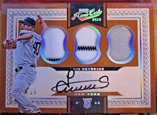 2016 PANINI PRIME CUTS Rookie Autograph Triple Jersey Luis Severino #63/99