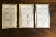 3 Packs CVS BRAND WHITE STICKER LABELS (114 TOTAL STICKERS) - NEW IN PACKAGE