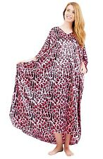 Women's Satin Kaftan in Pink Tiger Print, Up2date Fashion  Style Caf-65PNK