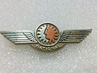 Vtg National Airlines Jr. Pilot Kids Flying Wings Plastic Pin Fly Souvenir RARE