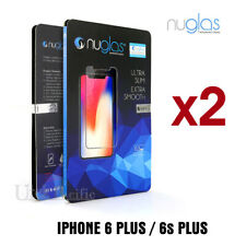 2 X Genuine Nuglas Tempered Glass Screen Protector for Apple iPhone 6s 6 Plus