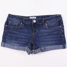 "Aeropostale Juniors Womens 7/8 Blue Distressed Jean Mini Short Shorts Waist 30"""