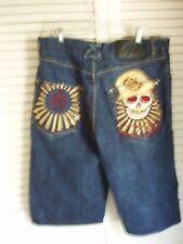 "Men""s Denim designer  Shorts "" Eight 732's "" Size 36 W  Heavy Embroidery New"