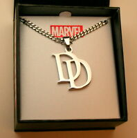 Marvel Comics DareDevil DD Stainless Steel Necklace Pendant New NOS Box
