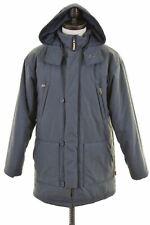 PUMA Mens Parka Jacket Size 36 Small Grey Polyester Vintage EJ20