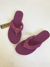 NEW Womens Sperrys Sandals 9M Seabrook Fisherman Current Berry Flip Flops Purple