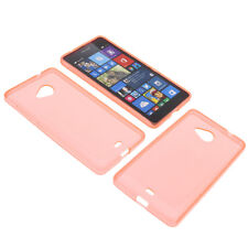 Bolsa para Nokia Lumia 535 Funda Protectora de Móvil TPU Goma Funda Naranja