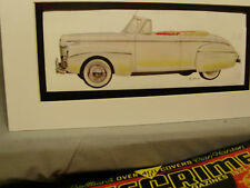 1941 Ford Convertible   Artist Auto Museum Full color Artist Illustrated
