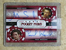 2011 Leaf Razor Poker HUCK SEED / PAUL WASICKA Pocket Pairs Red /5