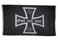 3x5 German Iron Cross Gott Mit Uns Rough Tex Knitted Flag 3'x5' Banner