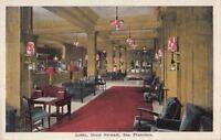 Postcard Lobby Hotel Stewart San Francisco CA