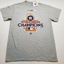 MLB Houston Astros 2017 World Series Mens T-Shirt M Majestic NWT Gray T16
