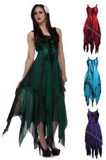 Dark Star Jordash Gothic Faerie Pixie Irregular Hem Tie Dye Long Dress