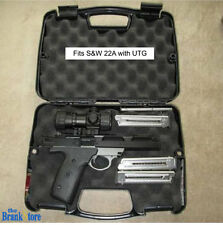 Gun Hard Case Single Pistol Handgun Lock Storage Box Revolver Weapon Safe Carry