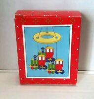 Vintage Russ Berrie ceramic train windchimes New In Box #1905