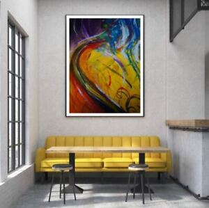 Colorful Abstract Oil Painting Print Premium Poster High Quality choose sizes