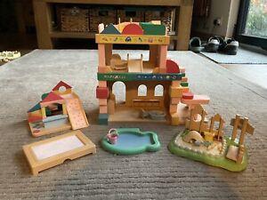sylvanian families — Primrose Nursery Bundle — Nursery, Sandbox, Trampoline Etc