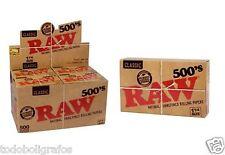 Crudo 500 x 20 pacchetti. cartine da fare,fumare,naturale . scatola completa