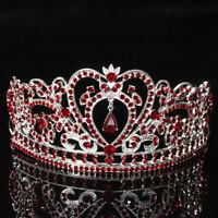 Crystal Wedding Tiara Crown Prom Pageant Princess Crowns Bridal Veil Headband