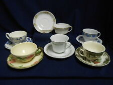 """Mixed Lot Vtg Mid Century """"Mad Hatter Tea Party"""" Set (6) Cups Saucers Lot B12"""