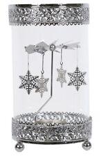 Snowflake Spinning Decoration Hurricane Tea Light Lamp 20cm High Rotary Spinner