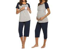 Stillkleidung Umstandskleidung Pyjama Schlafanzug Stillen Schwangerschaft Neu