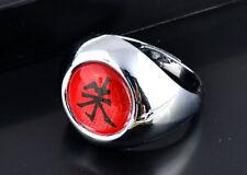 """New Japanese Anime Naruto Uchiha Itachi Akatsuki Red """"Shu"""" Ring Cosplay Ring"""