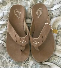 Olukai Mens Sandals Nui Sand Suede Size 9 New!