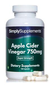 Apple Cider Vinegar 750mg *180 Capsules