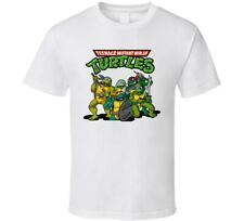 Teenage Mutant Ninja Turtles Retro White T Shirt