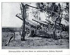 1915 Przemysl * Festungsgeschütze auf dem Clacis der wiedereroberten Fest*  WW1