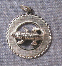 Vintage Sterling Silver Alligator Charm for charm bracelet