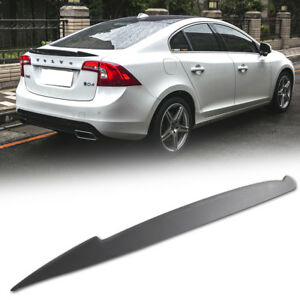 Carbon Fiber Fit FOR VOLVO S60 2nd Saloon Rear V Trunk Boot Spoiler Wing 11-18