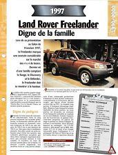FICHE TECHNIQUE VOITURE LAND ROVER FREELANDER
