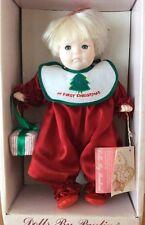 "My First Christmas Crissy 10"" Baby Doll By Pauline Bjonness Jacobsen 1985 NIB"