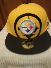 Pittsburgh Steelers New Era Fitted Hat Size 7 3/8