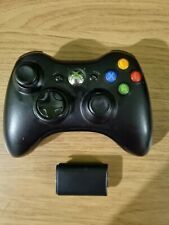 Genuine Black Microsoft Xbox 360 Video Game Controller + Battery Cover  - Tested