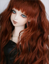 "8-9-10"" 1/3 BJD Long Curly Light Powder Brown Wig LUTS Doll SD DZ DOD MSD Hair L"