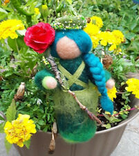 Hand Made Needle Felted Garden Fairy Princess