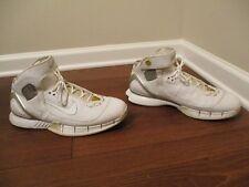 b4fb42c10f90 Classic 2005 Used Worn Size 12 Nike Air Zoom Huarache 2K5 Shoes White Silver