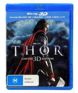 Thor - Limited 3D Edition (3D + 2D Blu-ray + DVD + Digital 2011) 3 Disc Region B